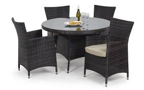 Maze Kitchen Table - maze rattan baby la 4 seater round table set dining sets