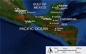 Mesoamerica Map The Americas 18 000 Bce First Migrations To 1500 European