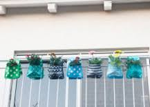 Rail Hanging Planters by Creative Outdoor Accessories To Hang From Your Balcony Railing