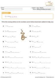 primaryleap co uk writing numbers in words worksheet