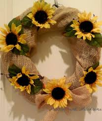 burlap sunflower wreath sunflower wreath for early fall meatloaf and melodrama