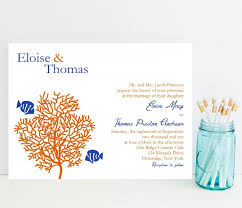 tropical themed wedding invitations coral reef wedding invitation tropical fish theme wedding