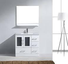 virtu ms 6736 c wh zola single bathroom vanity cabinet set 36