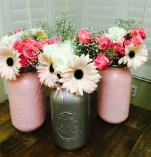 jar centerpieces for baby shower centerpieces for my pink and gray baby shower jar
