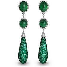 emerald drop emerald drop earrings jacob co timepieces jewelry