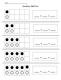 addition addition worksheets near doubles free math worksheets