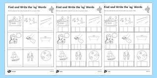 find and write the ay words differentiated activity sheets