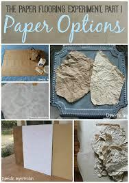 the paper flooring experiment part i paper options domestic