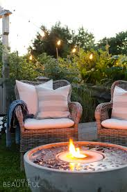 adding ambiance to our outdoor living space outdoor fire