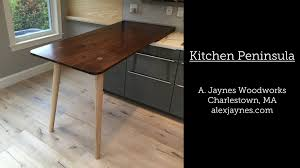 building a kitchen peninsula in charlestown youtube