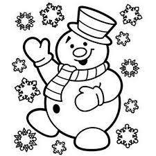 snowman happy christmas coloring download