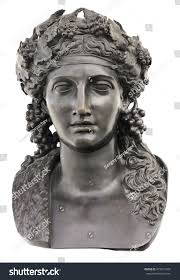 ancient bronze statue dionysus isolated on stock photo 473251459