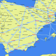 mileage map spain driving distance road map distances in spain from european