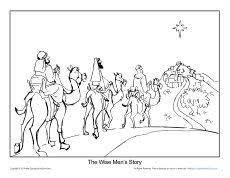christmas coloring printable sheet mary u0027s story sunday