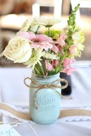 jar floral centerpieces simple floral centerpieces use vintage jars bottles and