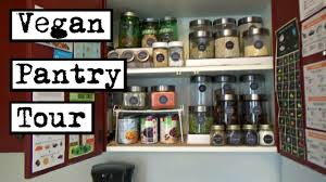vegan pantry tour storage and organization ideas youtube