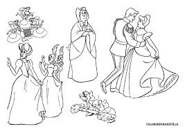 cindrella outline colouring cinderella gus coloring pages