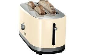 Toaster Kitchenaid Kitchenaid 5kmt4116aac 4 Slice Long Slot Toaster Almond Cream At