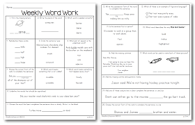ccss weekly word work for third grade and first and second