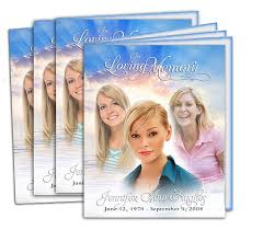 funeral program printing memorial service programs booklet design professional