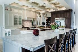 classic galley kitchen design white marble floor black panel
