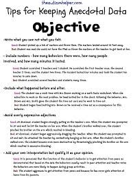 report writing sample for students keeping it objective writing accurate anecdotal data accident anecdotal 001