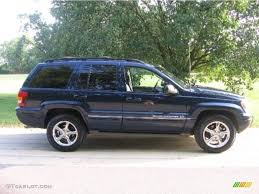 2004 midnight blue pearl jeep grand cherokee overland 4x4