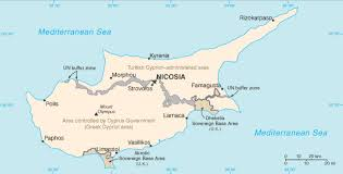 map of cyprus map of cyprus terrain area and outline maps of cyprus