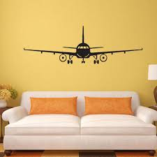 compare prices on 3d wall art decor online shopping buy low price 3d airplane wall stickers muraux wall decor airplane wall art decal decoration vinyl stickers 0417 removable