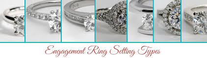 types of engagement rings engagement ring setting types engagement ring wall