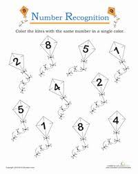 number recognition worksheets for kindergarten free worksheets