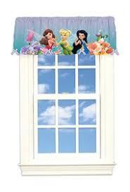 Tinkerbell Bathroom Set Room Decor Window Treatment Tinkerbell Drapes Kids Whs