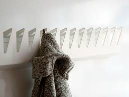 wall mounted coat rack contemporary stainless steel k 02
