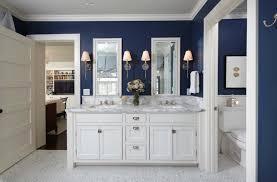 pretty and fresh navy and white coastal inspired bathroom