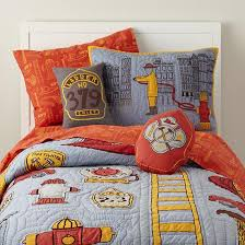 themed blankets the land of nod boys bedding fireman themed bedding set in