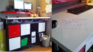 Ikea Standing Desk by Create A Dry Erase Standing Desk With Built In White Board