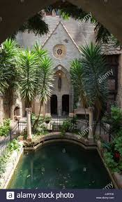 indoor courtyard at hammond castle in gloucester massachusetts