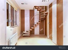 Corner Of Room by Spiral Stairs Inside Corner Small Modern Stock Photo 162436421