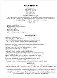 exles of professional summary for resume welding resumes exles professional tig welder templates to