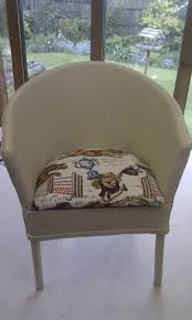Lloyd Loom Bistro Chair A Rescued And Rejuvenated Mini Lloyd Loom Chair I Painted It With