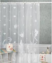 curtain exceptional sheer shower white cotton gray excellent