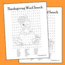 thanksgiving word search printable printables 4