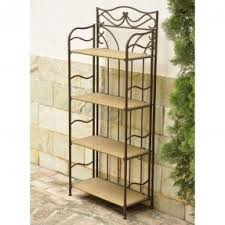 Storage Bakers Rack Corner Bakers Rack With Storage Foter