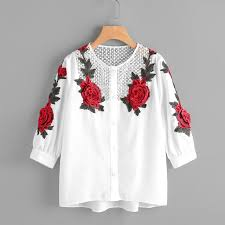 embroidered blouses trendy style embroidered blouse 2018 autumn