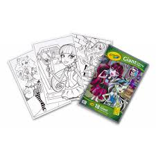 crayola monster high giant coloring book 18 pages to color