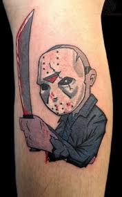 most beautiful black and red color ink jason vorhees cartoon