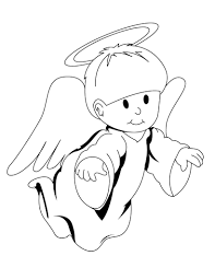 free printable angel coloring pages for kids at of angels