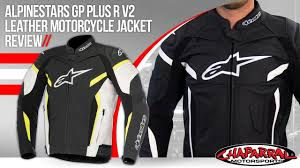 leather motorcycle accessories alpinestars gp plus r v2 leather motorcycle jacket review youtube