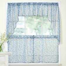 Kitchen Curtains And Valances by Check U0026 Plaid Valances U0026 Kitchen Curtains You U0027ll Love Wayfair