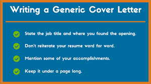 generic cover letter example and tips to land a job zipjob